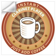 Instant Clarinet Player Wall Decal