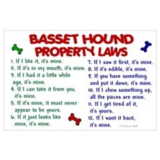 Basset Hound Property Laws 2 Poster