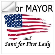 EJ Mayor/Sami 1st Lady (trans Wall Decal