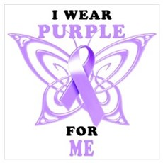 I Wear Purple for Me Canvas Art