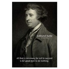 Edmund Burke: Good & Evil Framed Print
