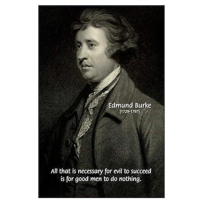 Edmund Burke: Good & Evil Poster