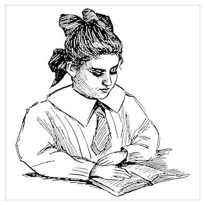 Girl Reader Poster