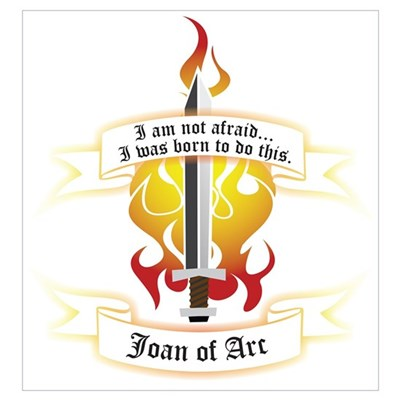 Joan of Arc - Born to Do This Canvas Art