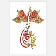 Cute Dragon phoenix Wall Art