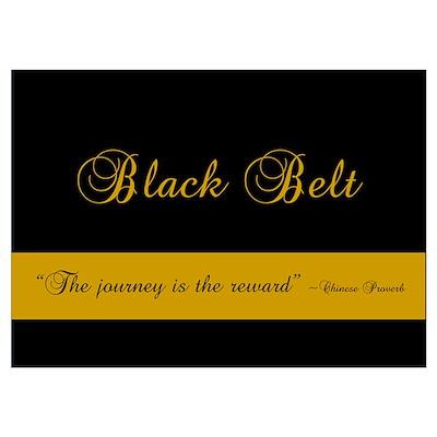 Black Belt Journey Poster