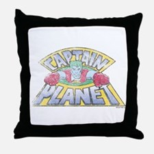 Vintage Captain Planet Throw Pillow