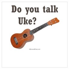 Do you talk Uke? Canvas Art
