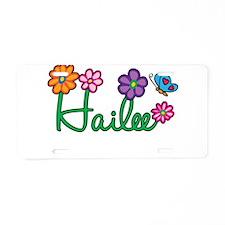 Hailee Flowers Aluminum License Plate