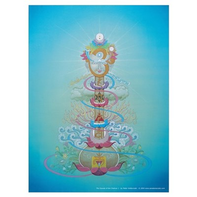Sounds of the Chakras Large Poster