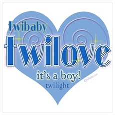 Twibaby Twilove It's a Boy! Blue n Poster