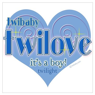 Twibaby Twilove It's a Boy! Blue n Poster