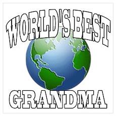 WORLD'S BEST GRANDMA Poster