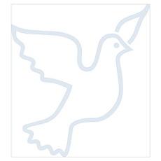 Peace Dove Blue Light Poster