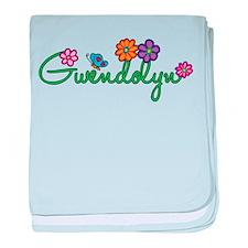 Gwendolyn Flowers baby blanket