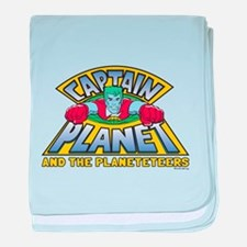 Captain Planet Logo baby blanket