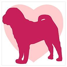 Shar Pei Valentine's Day Poster