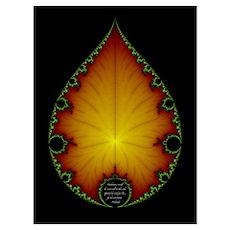 Fractal Leaf Poster