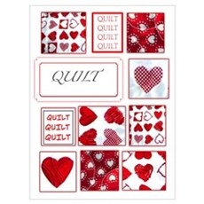 Love to Quilt Poster