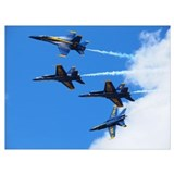 Blue angel airplane Framed Prints