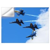 Blue angel airplane Wall Decals