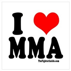 I Love MMA Poster