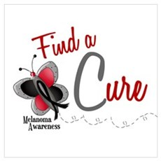 Find A Cure 1 Butterfly 2 MELANOMA Pri Canvas Art