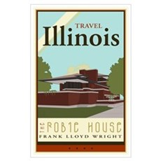Travel Illinois Poster