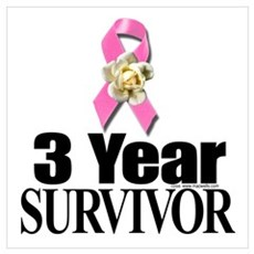 Breast Cancer Survivor D3 Poster