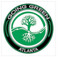 Going Green Atlanta Tree Poster