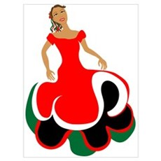 Female Mexican Dancer Framed Print