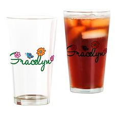 Gracelyn Flowers Drinking Glass