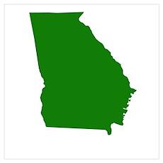 Green Georgia Poster