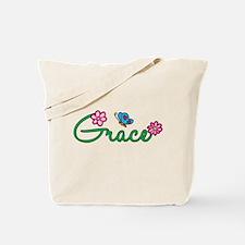 Grace Flowers Tote Bag