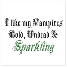Cold Undead & Sparkling Green Poster
