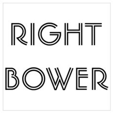 Euchre Right Bower Poster