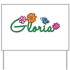 Gloria Flowers Yard Sign