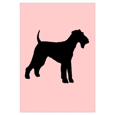 airedale terrier dog pink Canvas Art