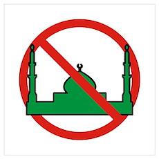 No Mosque Poster