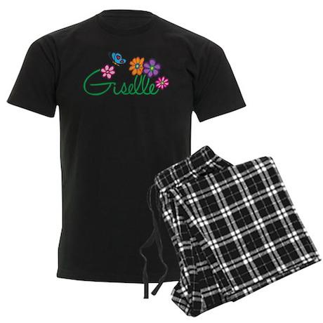 Giselle Flowers Men's Dark Pajamas