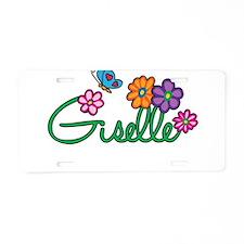 Giselle Flowers Aluminum License Plate