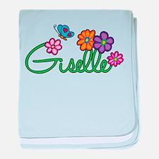 Giselle Flowers baby blanket