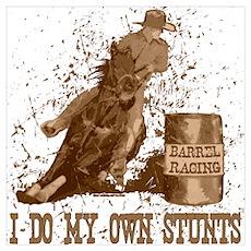 Horse barrel racing. Stunts. Poster