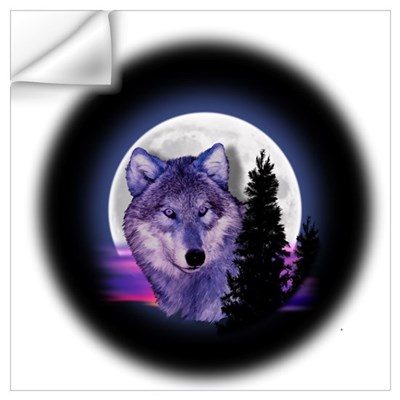 Moon Wolf Wall Decal