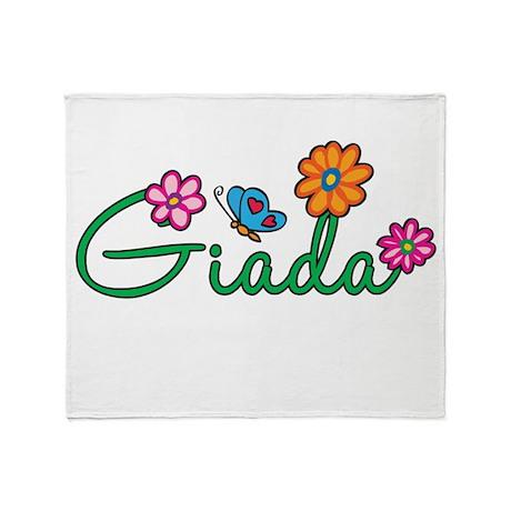 Giada Flowers Throw Blanket