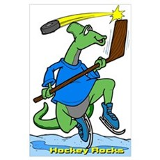 Hockey Rocks Framed Print