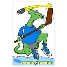 Hockey Rocks Poster