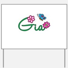 Gia Flowers Yard Sign