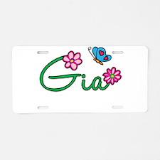 Gia Flowers Aluminum License Plate