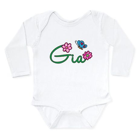 Gia Flowers Long Sleeve Infant Bodysuit